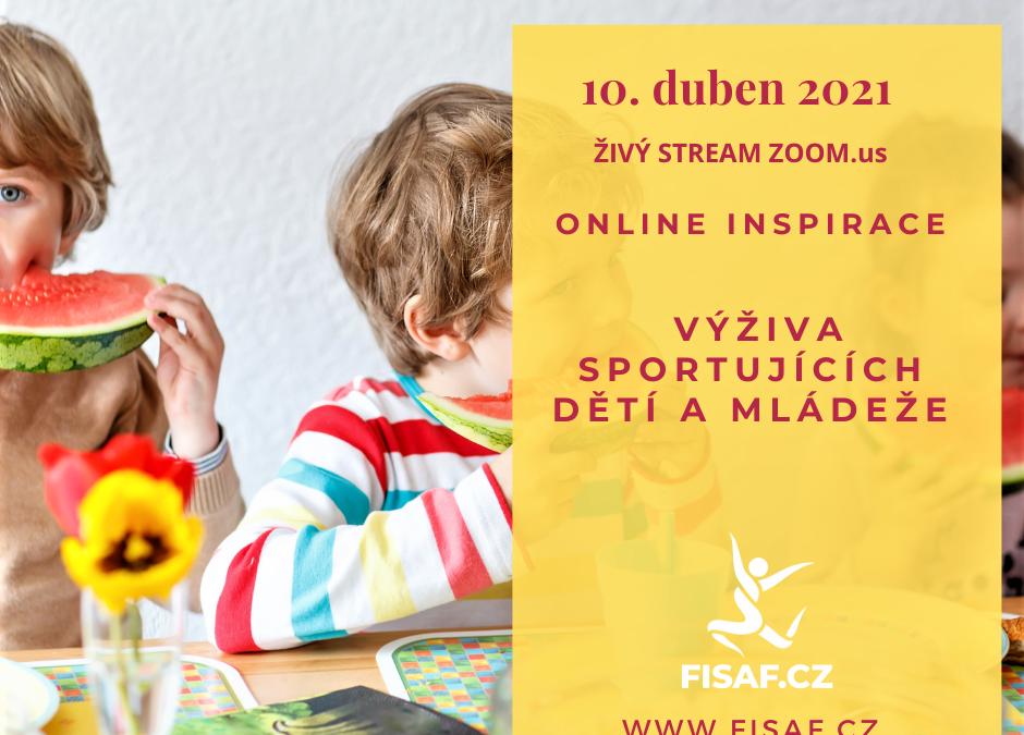 Online workshop Výživa sportujících dětí a mládeže 10.4.2021